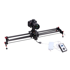 Motorized Autolo DSLR Camera Track Dolly Slider with Time Lapse Tracking and 120-degree Panoramic for Video Shooting Film Making