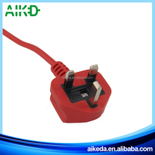 UK fused power cord with C13 plug