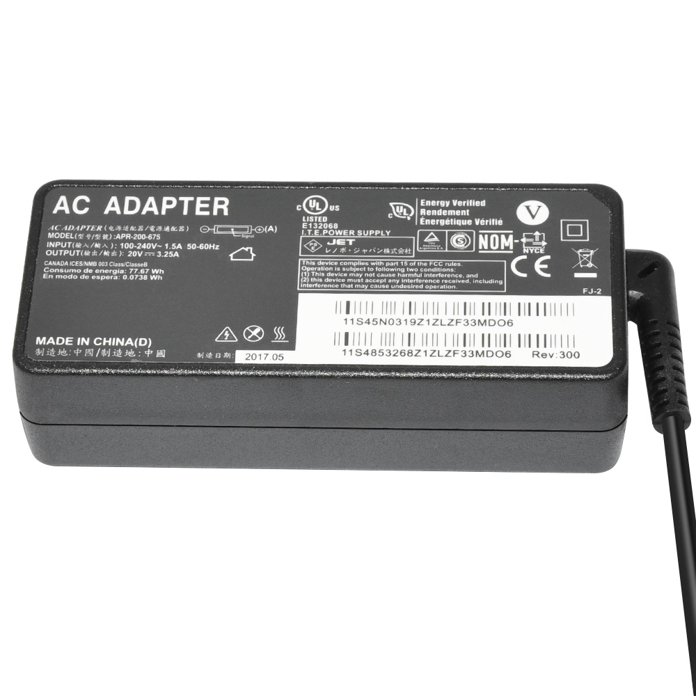 65W ac adapter 20V 3.25A for Lenovo laptop charger adapter