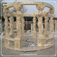 Outdoor decorating gazebo for wedding in marble