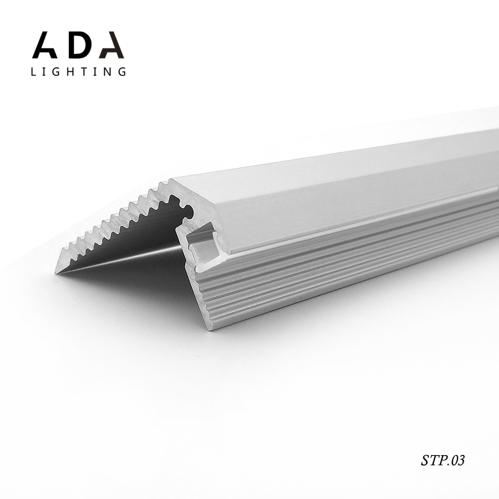 STP.03 u-shaped Step profile floor led glass shelf light suspended extrusion aluminum led profile