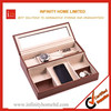 PU leather office wood desk sets organizer