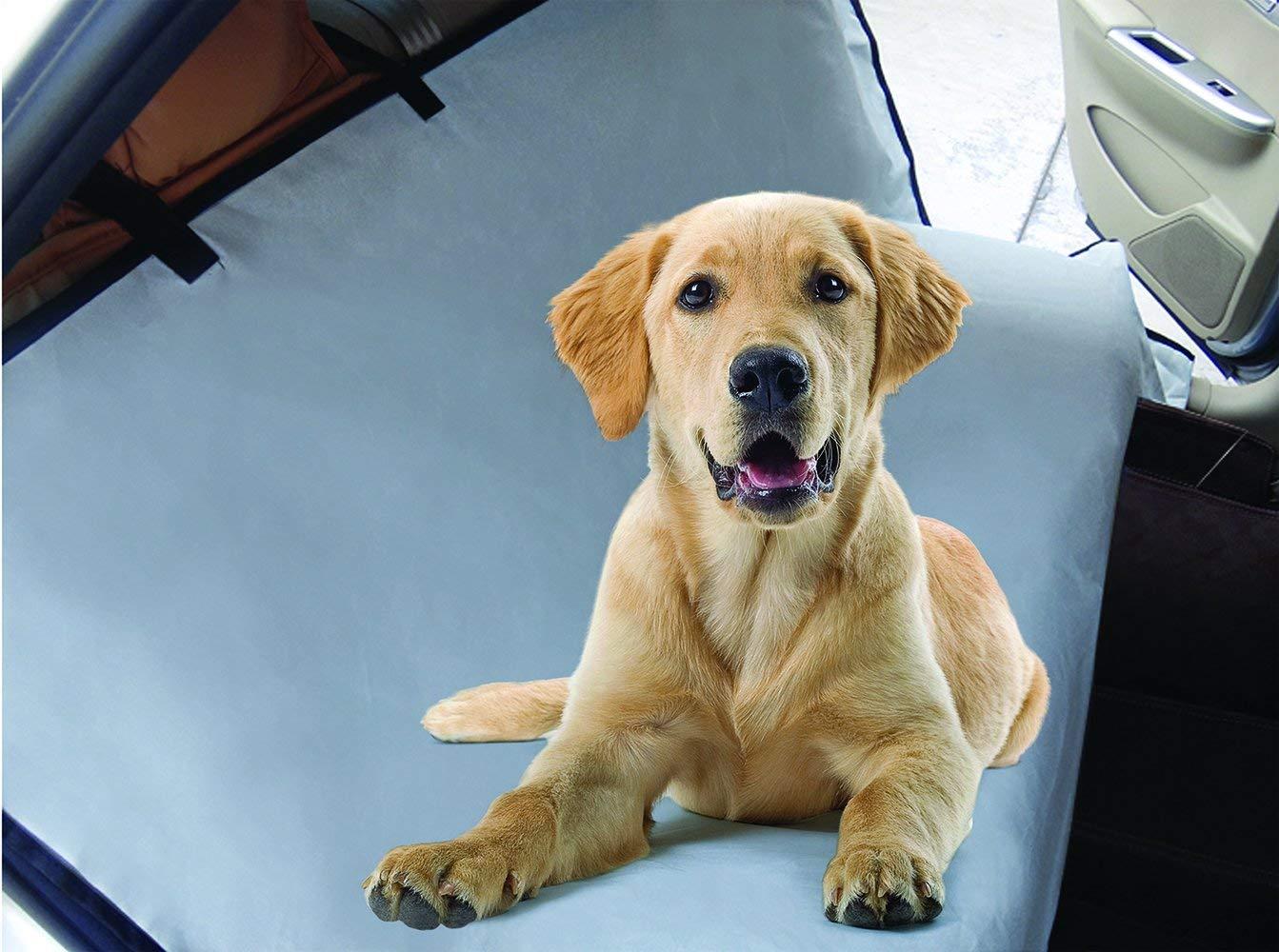 "Unique Petz Pet Waterproof Car Seat Protector, 57"" x 57"", Gray"