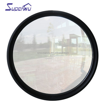 Housetop used circular glass aluminum window as glass skylight