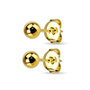 316L Surgical Stainless Steel Gold Plated 3mm 4mm 5mm Ball Stud Earrings