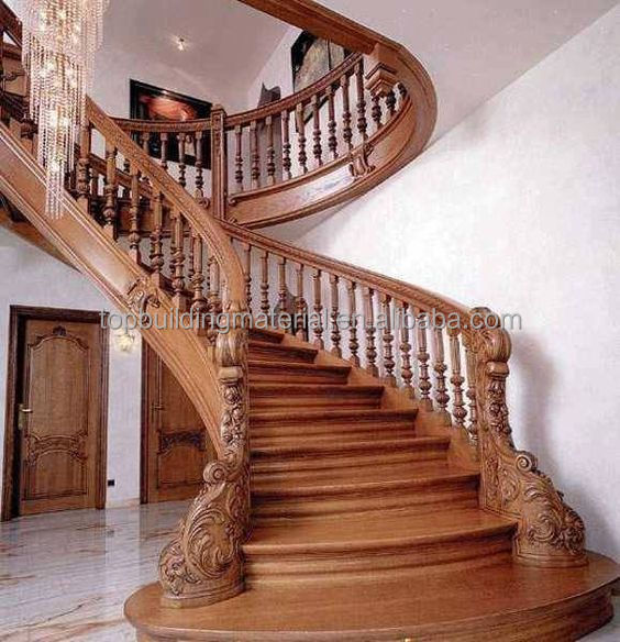 Exquisite Carving Hout Trappen Arc Hout Trappen