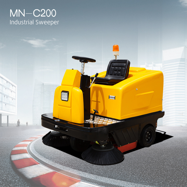 industrial ride on floor sweeper, dry clean machine/electric dust sweeper/street sweeper broom