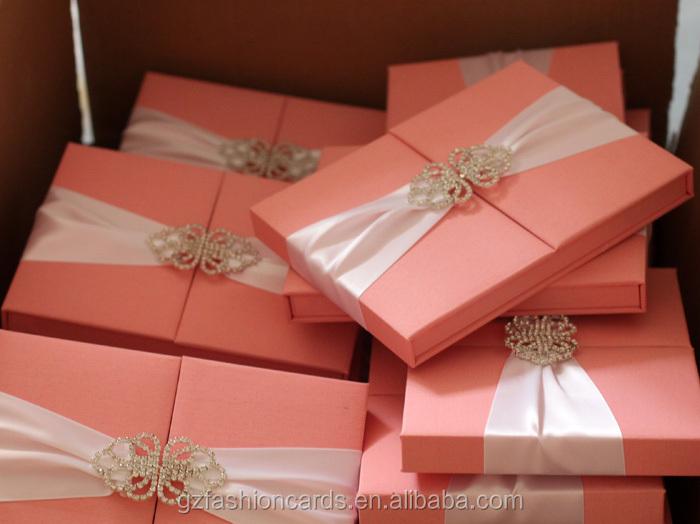 2015 Luxury Unique Wedding Invitation Box With Brooch Buy Wedding