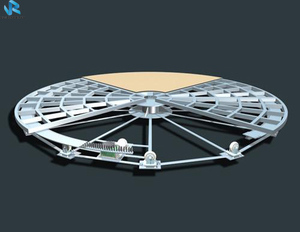 Glass Board Revolving Round Stage For Piano Concert