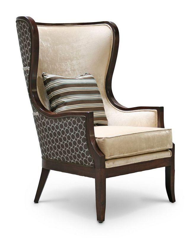 Modern design high back sofa armchair velvet with cushion for Armchair covers to buy