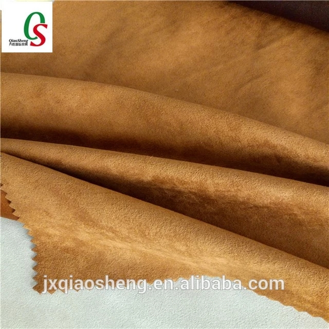 100 polyester pu coating fabric faux suede sofa fabric