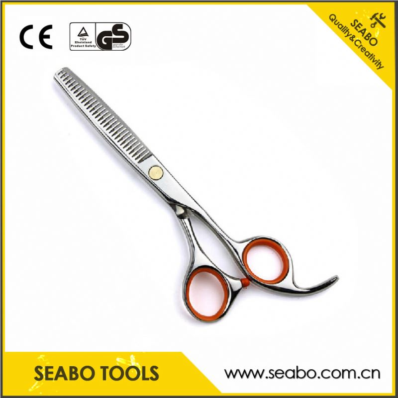 OEM package box design damascus steel hair scissors with customized logo