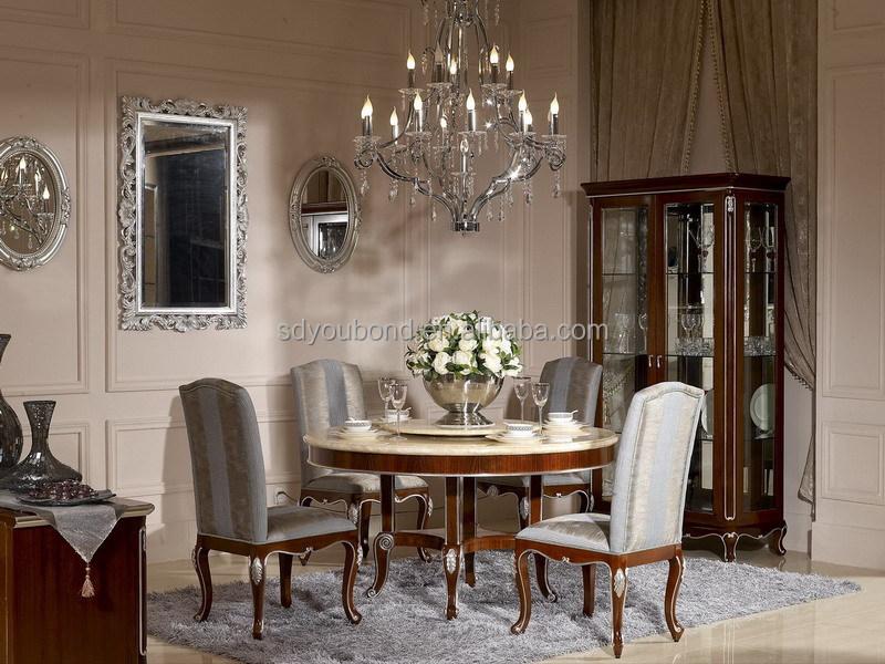 y estilo antiguo europeo ronda mesa comedor mesa comedor con madera de haya maciza base de