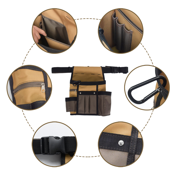 Multi-purpose Electrician Work Tool Pouch Holder Bag with Multiple Pockets