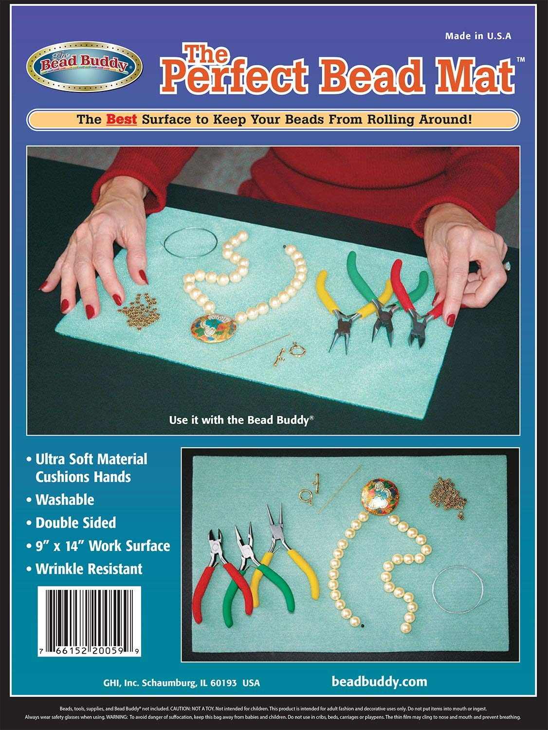 Bead Buddy Ultra Soft Perfect Bead Mat - Sticky Bead Mat - The Perfect Design Board and Mat - Beading Mats