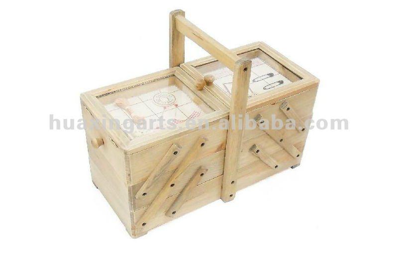 Grand style victorien style en bois bo te couture bo tes for Grande boite a couture en bois