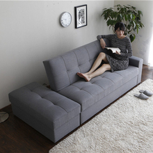 Storage simple design fabric living room folding single sofa cum bed