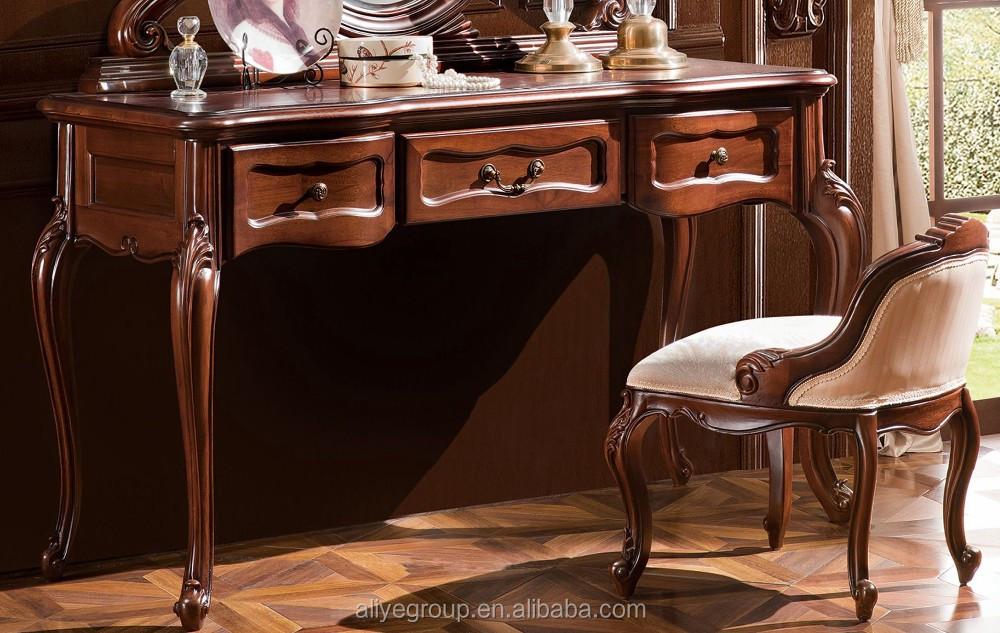 Tyzd881-1-luxury Dressing Makeup Table Wooden Dresser Set Drawer Dressing Table Mirror With ...
