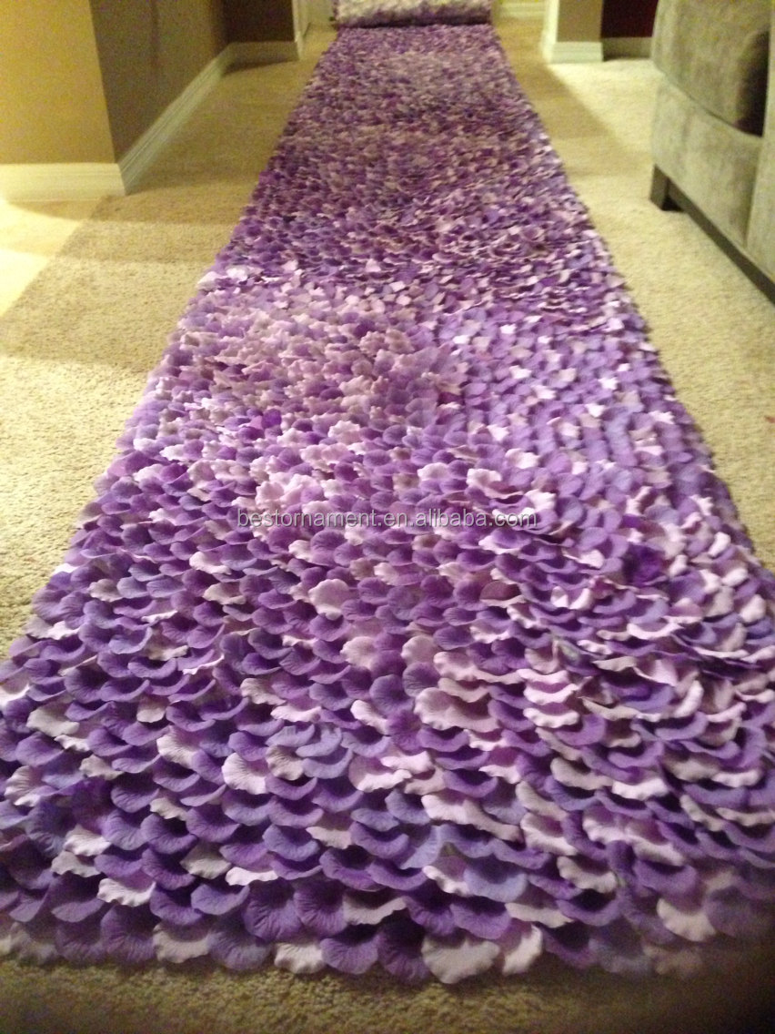 Purple Symphony Purple Amp Lavender Silk Rose Petal Aisle