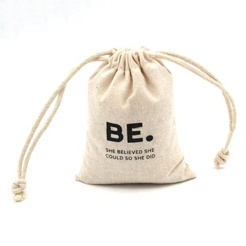 Free sample eco-friendly mini draw string pouch natural cotton muslin cloth drawstring nut bags with custom logo