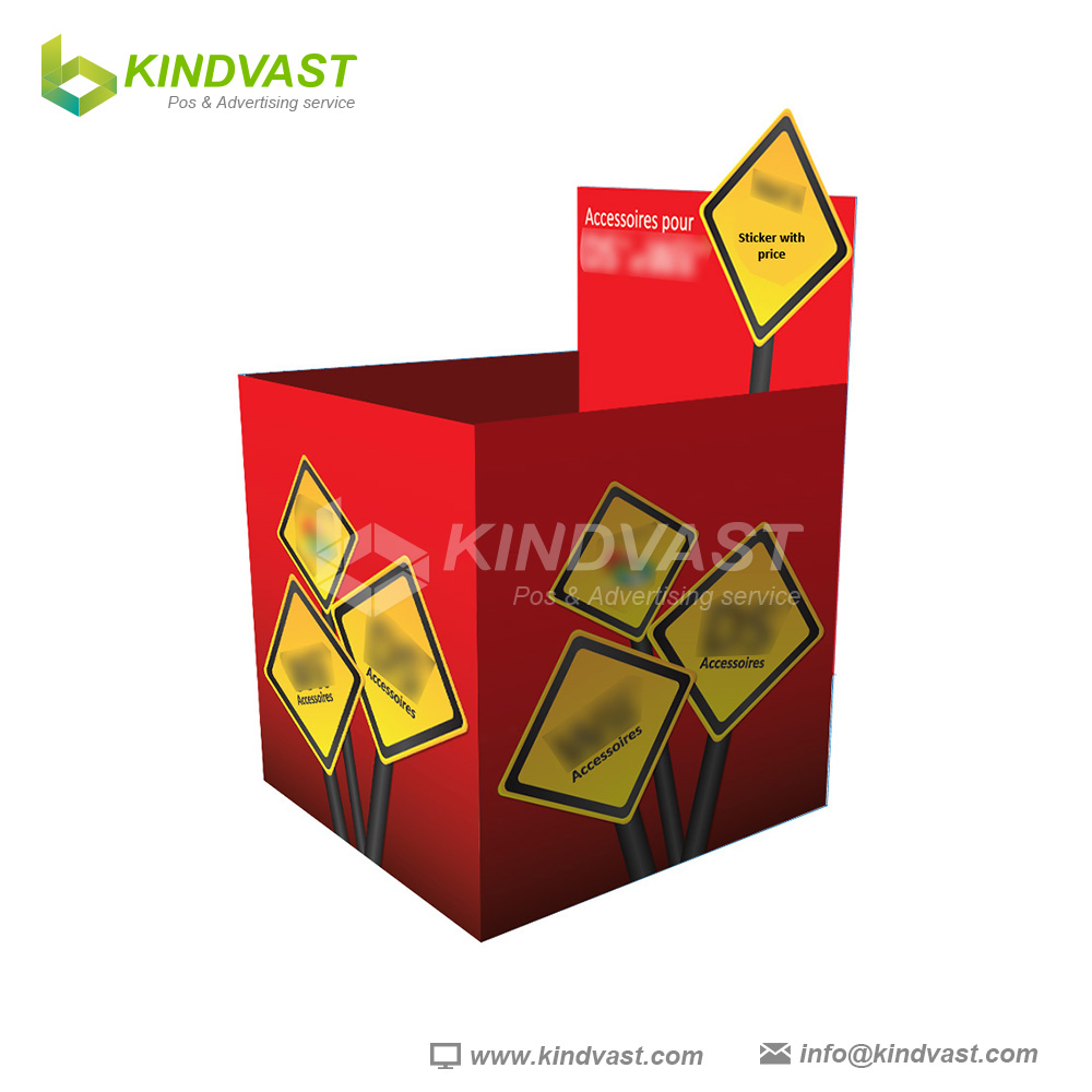 Custom promotion cardboard dump bin for supermarket or retail
