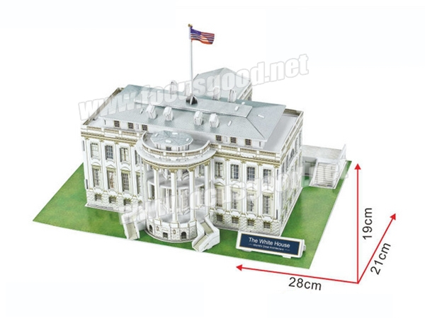 Foam 3d Puzzle Model The White House Puzzle Of Usa