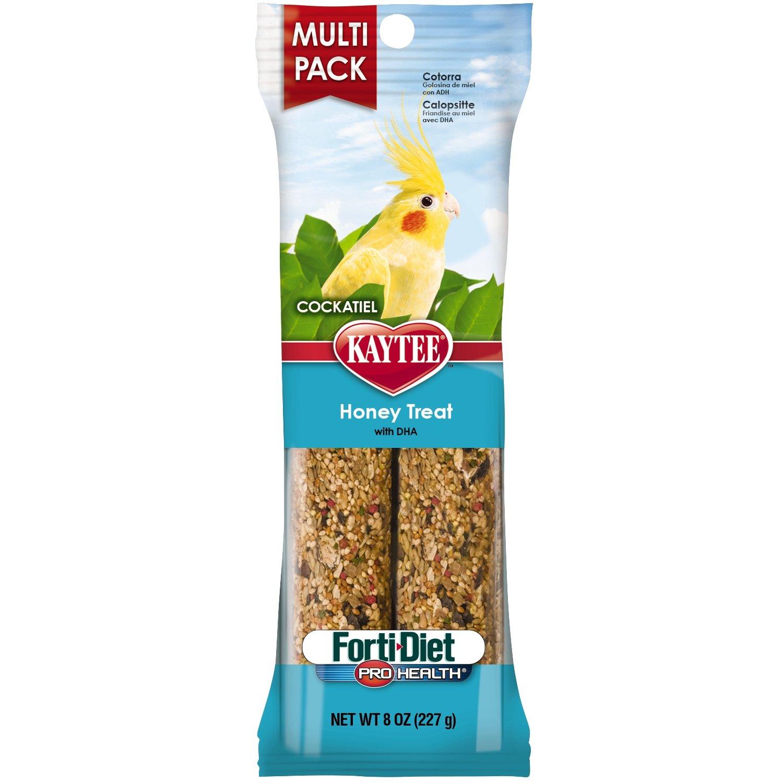 Kaytee Forti-Diet Pro Health Cockatiel Honey Treat Stick Value Pack, 8-oz