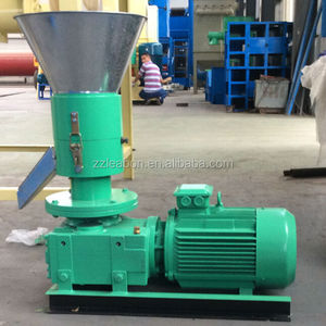 Small Model 100kg/h Flat Die Wood Pellet Mini Granulator