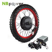 "Up to 80km/h electric bike kit 3000W 19"" 2.75 Wheel with Sine Wave programmable controller"