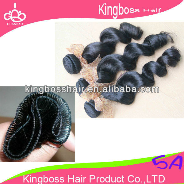 double track 100% human hair weave china supplier