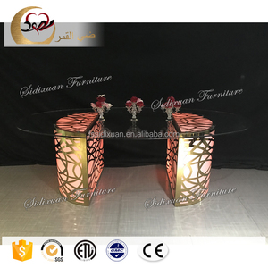 round stainless steel metal used wedding tables for wedding events