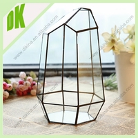 Excellent quality low price glass terrarium vase // wholesale gift items for cemetery gravestone marble flower vase