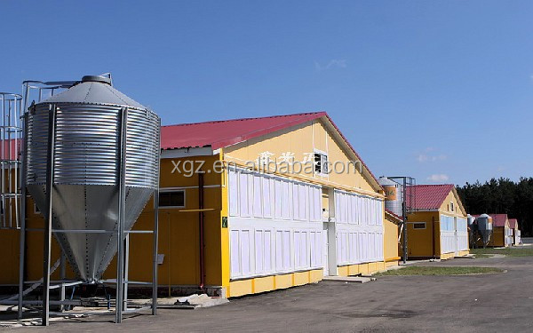 Low cost prefab poultry house with ventilation