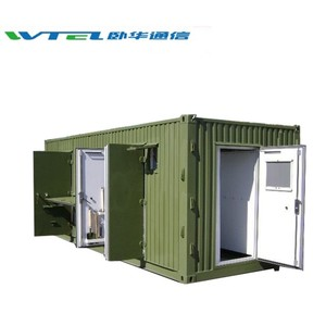 W-TEL system outdoor equipment telecom room Hot dipped galvanized antenna telecom room shelter for 4g base station tower