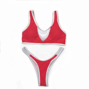2019 New Sexy Girl Sporty High Cut Bikini Swimwear And Beachwear