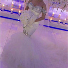 FA106 Off-the-shoulder Mermaid Wedding Dresses 2020 Hot Selling New Court Train Luxury Crystal Rhinestone Tulle Bridal Gowns