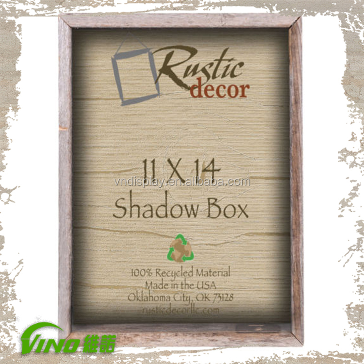 rustic vintage picture frames timber frame 8x8 shadow box frame