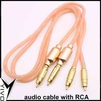 YIVO 2G Copper and silver combination Used super NEWING Audio Cable With double shield rf filter