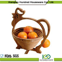 Seamless Professional wood bamboo fruit basket