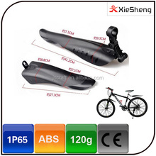 Wholesale bike parts black color waterproof cycling a set of MTB fenders bicycle mudguard