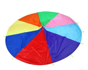 Children Kids Teamwork Cooperative Play Rainbow Parachute Waterproof Outdoor Game Exercise Sport Tool Toy