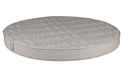 """Dream Solutions USA Round Foam Mattress (86"""" Diameter) with Quilted Cover 8"""" Height - High Density Premium Foam - Longlasting (7-10 Yrs) Polyurethane Upholstery Foam - Round Bed Mattress -By"""