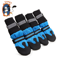 Waterproof dog shoes top quality Lycra material rubber pet shoes sole saft and comfortable outdoor hiking shoes dog