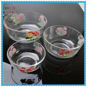 glass salad bowl wholesale flat glass bowl