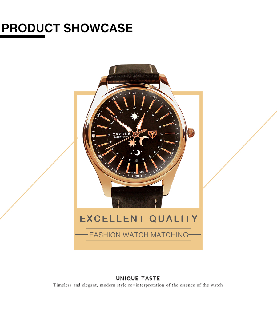 Yazole Z 368 High Quality Factory Price Waterproof Business Wrist watch