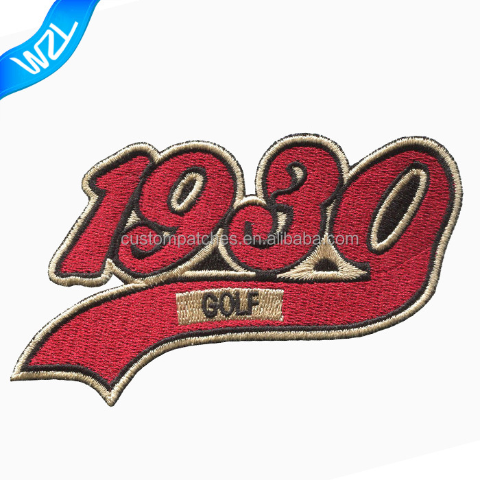 1930 Golf heat press China factory garment patches