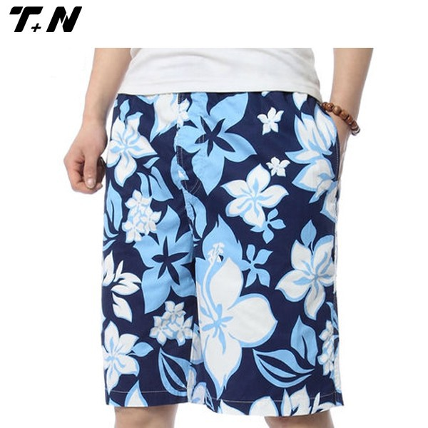 All over printed cargo casual swim board shorts