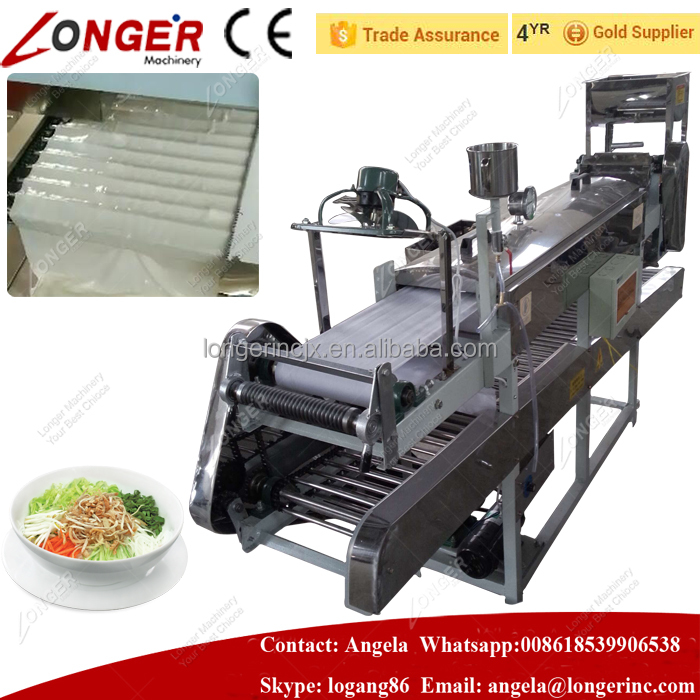 Full Automatic Factory Price Ho Fun Noodle Producing Machine Rice Noodle Making Machine