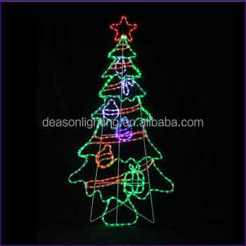 Rope light silhouettes led christmas tree with decorations 12 rope light silhouettes led christmas tree with decorations 12m aloadofball Choice Image