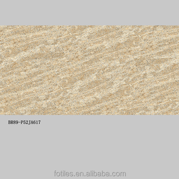 Full Polished Glazed Surface Haiti Yellow Limestone style Slim Tile in Big Size with 5.5mm Thickness